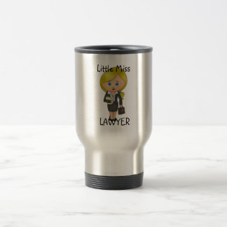 Little Miss Lawyer - Blonde, Blue Eyes Travel Mug