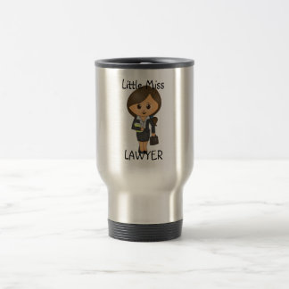 Little Miss Lawyer - Brunette / Brown Hair Stainless Steel Travel Mug