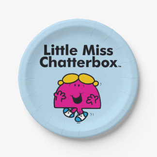 Little Miss | Little Miss Chatterbox is So Chatty Paper Plate