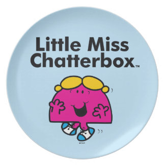 Little Miss | Little Miss Chatterbox is So Chatty Plate