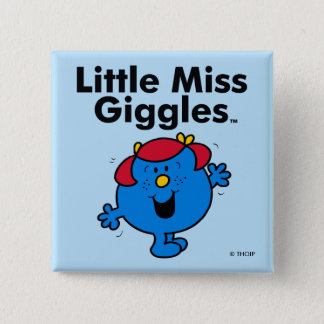 Little Miss | Little Miss Giggles Likes To Laugh 15 Cm Square Badge
