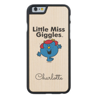 Little Miss | Little Miss Giggles Likes To Laugh Carved Maple iPhone 6 Case