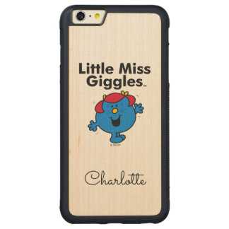 Little Miss | Little Miss Giggles Likes To Laugh Carved Maple iPhone 6 Plus Bumper Case