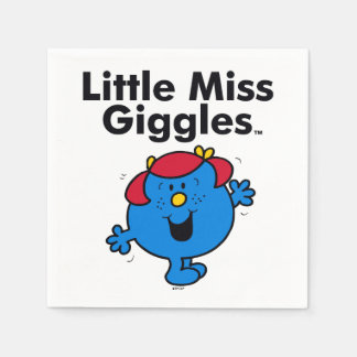 Little Miss | Little Miss Giggles Likes To Laugh Disposable Serviette