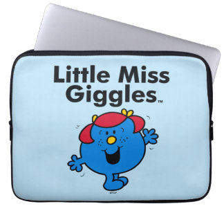 Little Miss | Little Miss Giggles Likes To Laugh Laptop Sleeve