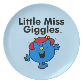 Little Miss | Little Miss Giggles Likes To Laugh Plate