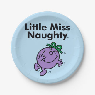 Little Miss | Little Miss Naughty is So Naughty 7 Inch Paper Plate