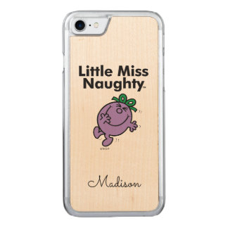 Little Miss | Little Miss Naughty is So Naughty Carved iPhone 8/7 Case