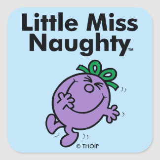Little Miss | Little Miss Naughty is So Naughty Square Sticker