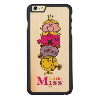 Little Miss | Little Miss Standing Tall Carved Maple iPhone 6 Plus Case