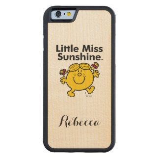 Little Miss | Little Miss Sunshine is a Ray of Sun Carved Maple iPhone 6 Bumper Case