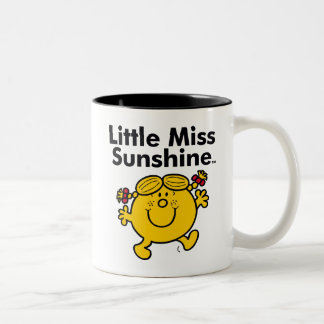 Little Miss | Little Miss Sunshine is a Ray of Sun Two-Tone Coffee Mug