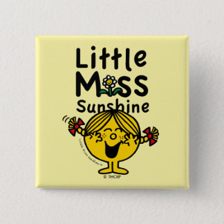 Little Miss | Little Miss Sunshine Laughs 15 Cm Square Badge