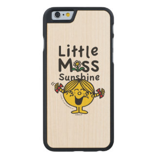 Little Miss | Little Miss Sunshine Laughs Carved® Maple iPhone 6 Slim Case