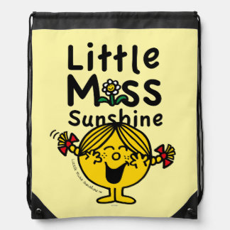 Little Miss | Little Miss Sunshine Laughs Drawstring Bag