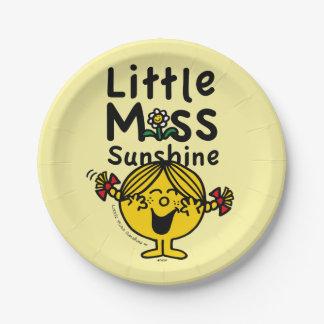 Little Miss   Little Miss Sunshine Laughs Paper Plate