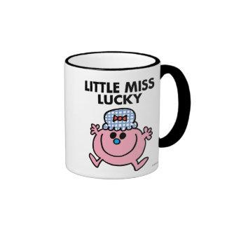 Little Miss Lucky | Black Lettering Ringer Mug