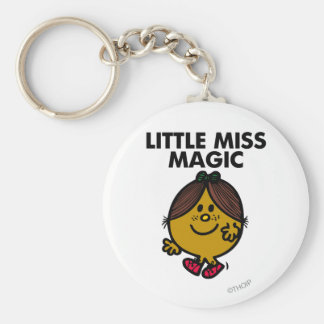 Little Miss Magic | Black Lettering Basic Round Button Key Ring