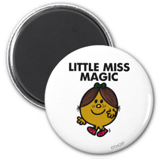 Little Miss Magic | Black Lettering 2 Inch Round Magnet