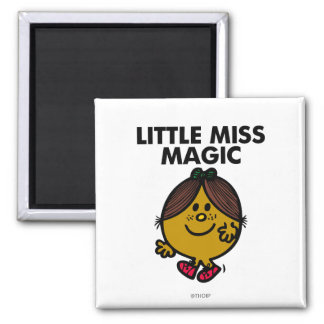Little Miss Magic | Black Lettering Square Magnet