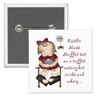 Little Miss Muffet Pinback Buttons