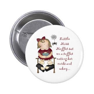 Little Miss Muffet Button
