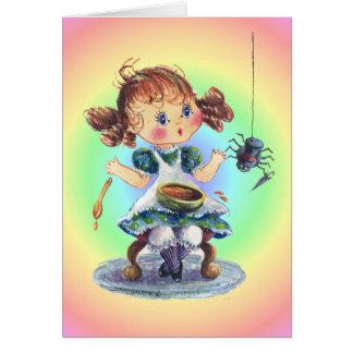 LITTLE MISS MUFFET by SHARON SHARPE Card