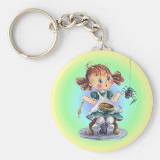 LITTLE MISS MUFFET by SHARON SHARPE Key Chain
