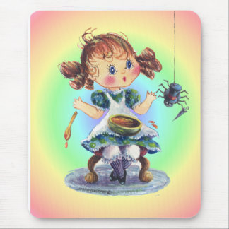 LITTLE MISS MUFFET by SHARON SHARPE Mouse Pad
