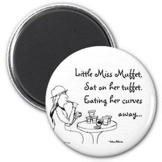 Little Miss Muffet Magnet