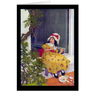 Little Miss Muffet Nursery Rhyme Greeting Card
