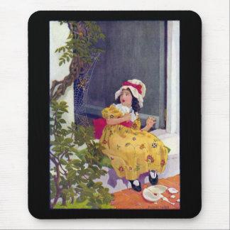 Little Miss Muffet Nursery Rhyme Mousepads