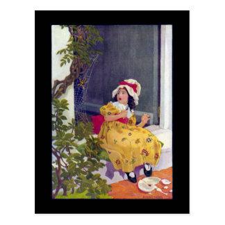 Little Miss Muffet Nursery Rhyme Postcard