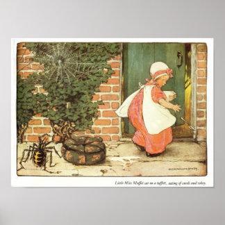 Little Miss Muffet Nursery Rhyme Print
