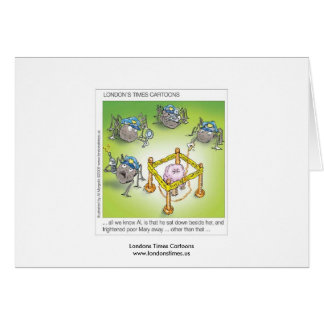 Little Miss Muffet Police Funny Greeting Card