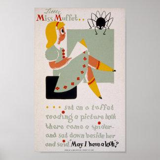 Little Miss Muffet Posters