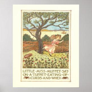 """""""Little Miss Muffet"""" Poster"""