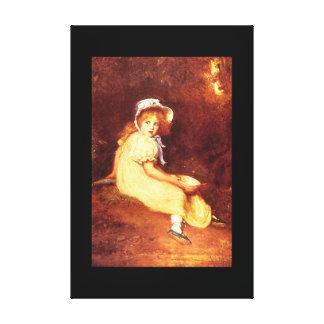 Little Miss Muffet', Sir John_Portraits Canvas Print