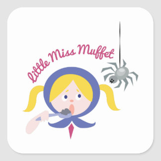 Little Miss Muffet Square Sticker