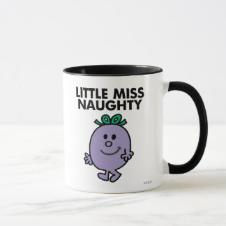 Little Miss Naughty | Black Lettering Mug