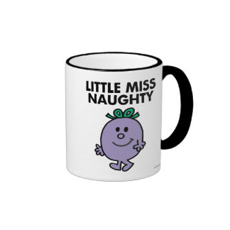 Little Miss Naughty | Black Lettering Ringer Mug