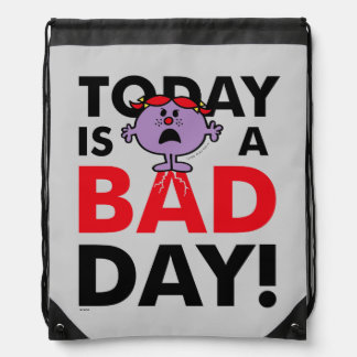 Little Miss Naughty | Today is a Bad Day Drawstring Bag