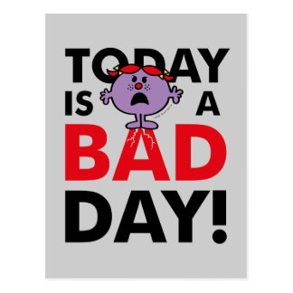 Little Miss Naughty | Today is a Bad Day Postcard