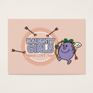 Little Miss Naughty | Valentine Business Card