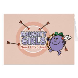 Little Miss Naughty   Valentine Card
