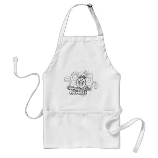 Little Miss Naughty With Bold Background Standard Apron