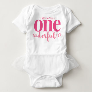 Little Miss Onederful First Birthday Tutu Baby Bodysuit