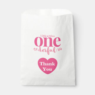 Little Miss Onederful Goodie Bags Favour Bags