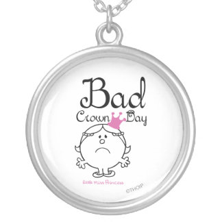 Little Miss Princess | Bad Crown Day Round Pendant Necklace