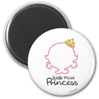 Little Miss Princess | Blank Face 6 Cm Round Magnet